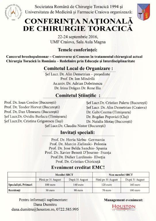 invitatie conferinta nationala de chirurgie toracica